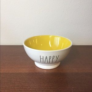 Rae Dunn Happy Yellow Interior Bowl